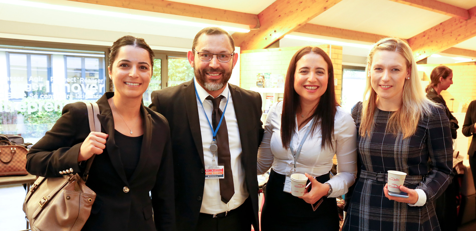 Olfa Hamdi with Conference Attendees
