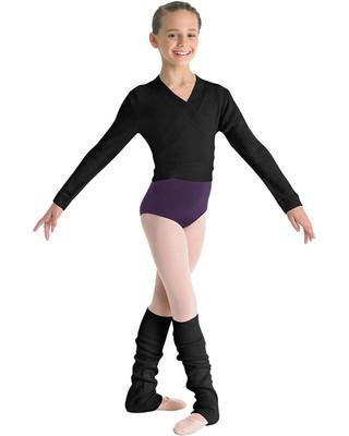 Bloch CZ0999 Knit Wrap Sweater - Black
