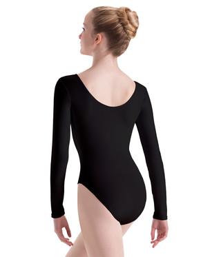 Motionwear 2102 Long Sleeve Leotard - Black