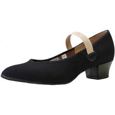 Bloch SO314 Karacta Sports Canvas High Heel Character Shoe - Black