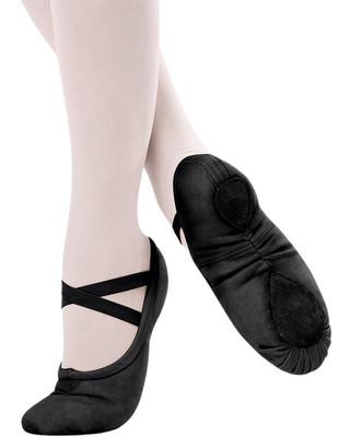 Sansha 1C Pro Canvas Split Sole Ballet Slipper - Black