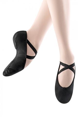 Bloch SO282 Zenith Stretch Canvas Split Sole Ballet Slipper - Black