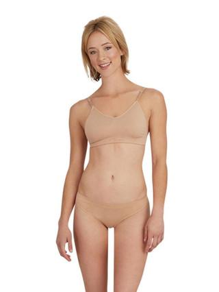 Capezio 3683 Seamless Clear Back Bra - Nude
