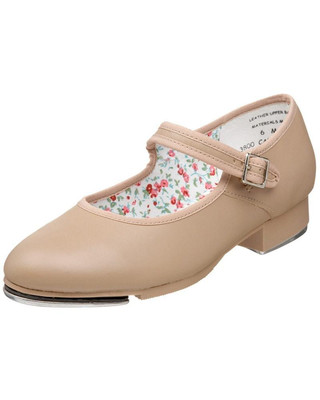 Capezio 3800 Mary Jane Leather Strap Tap Shoe - Caramel