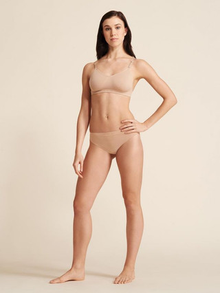 Capezio 3678 Seamless Low Rise Thong - Nude