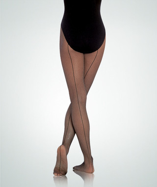 Body Wrappers C62/A62 Seamed Fishnet - Black