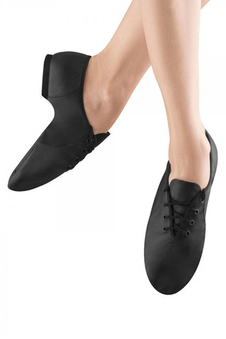 Bloch SO405 Jazzsoft Lace-up Leather Jazz Shoe - Black
