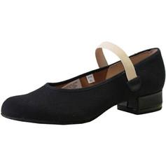Bloch SO315G Karacta Flat Low Heel Canvas Character Shoe - Black