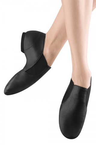 Bloch SO499 Elasta Bootie Leather Slip On Jazz Shoe Girls