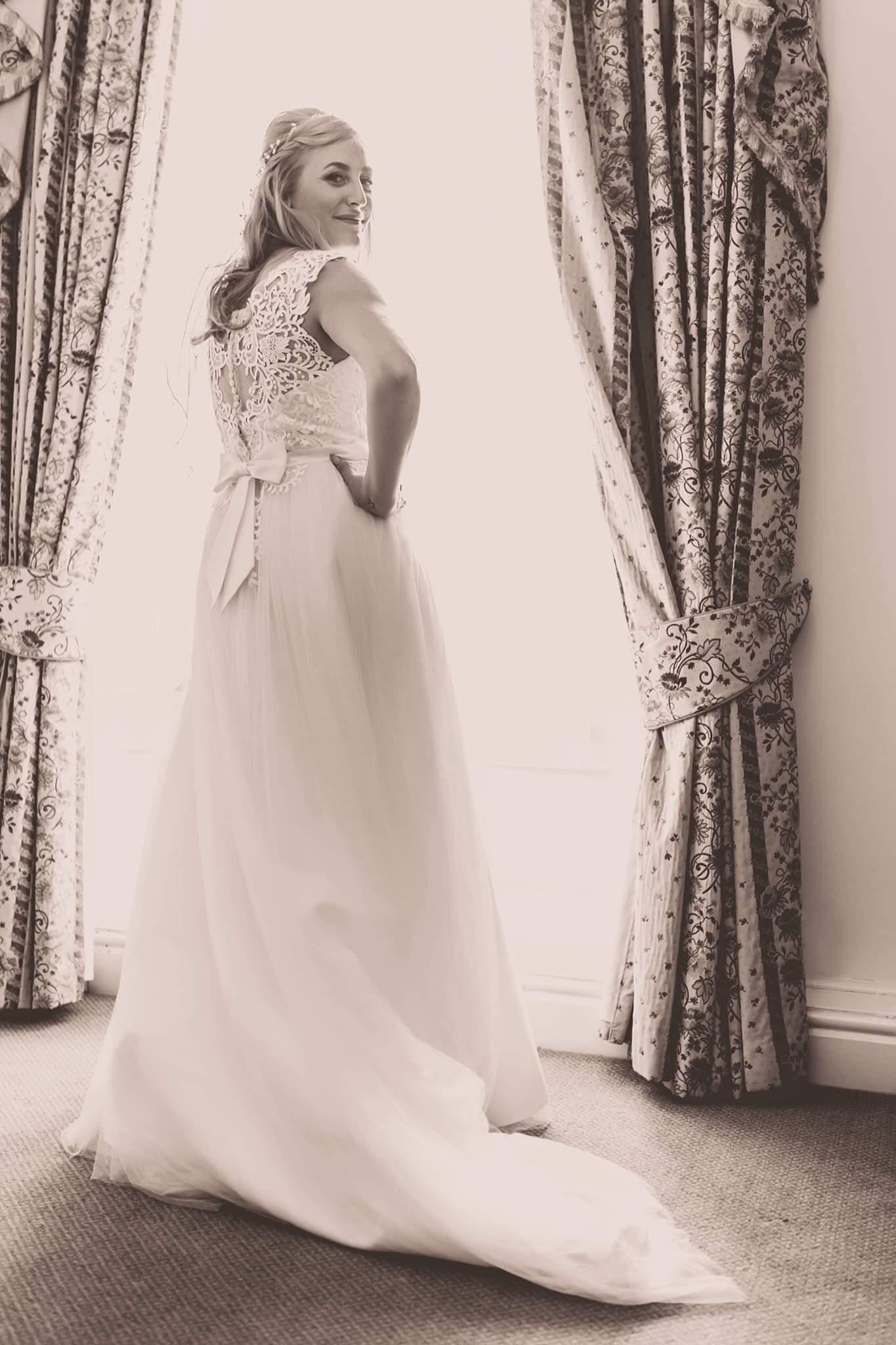 Jodie in a Verise gown