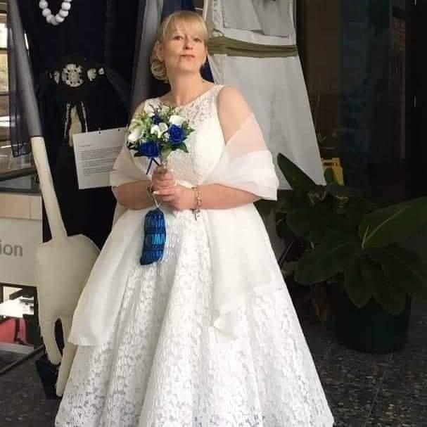 Julie in a Verise gown