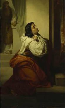Painting of Hannah praying by Vasili Petrovich Vereshchagin
