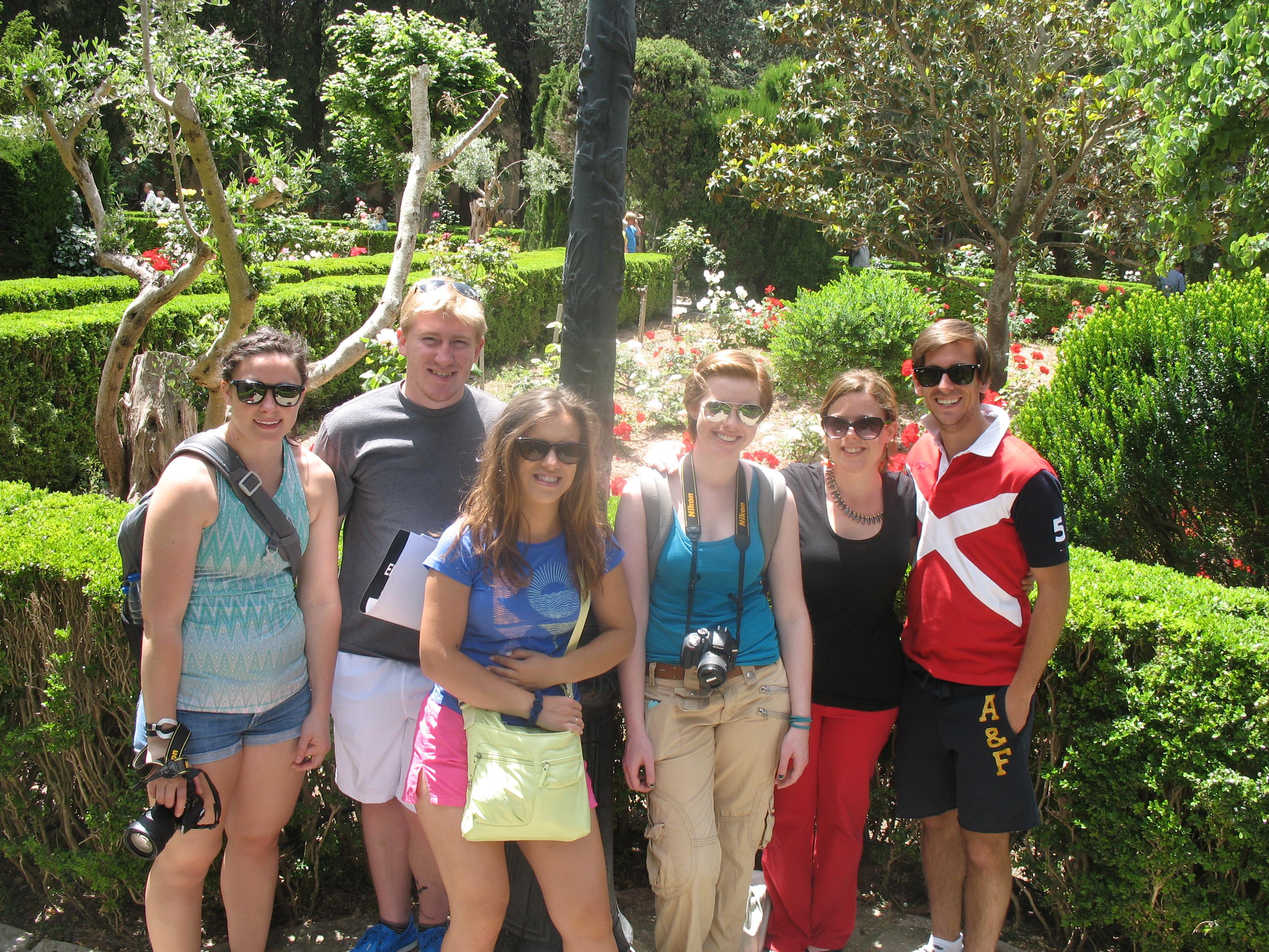 With students: Valldemossa, Mallorca