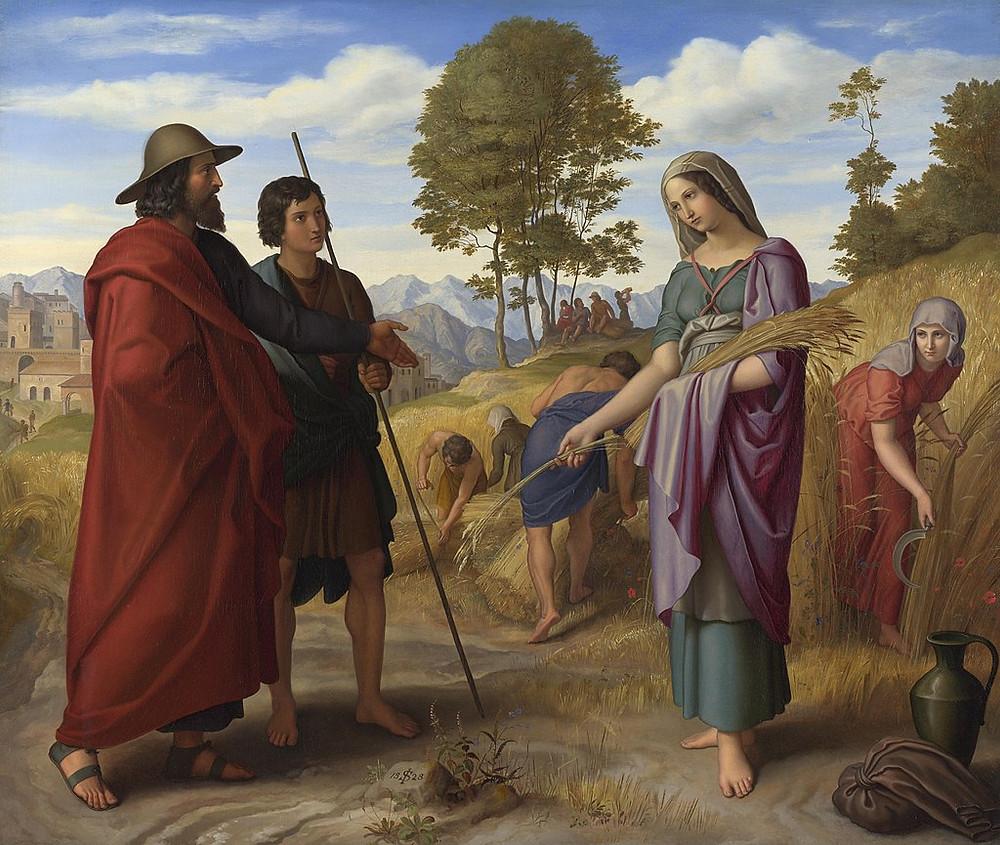Painting of Ruth and Boaz by Julius Schnorr von Carolsfeld