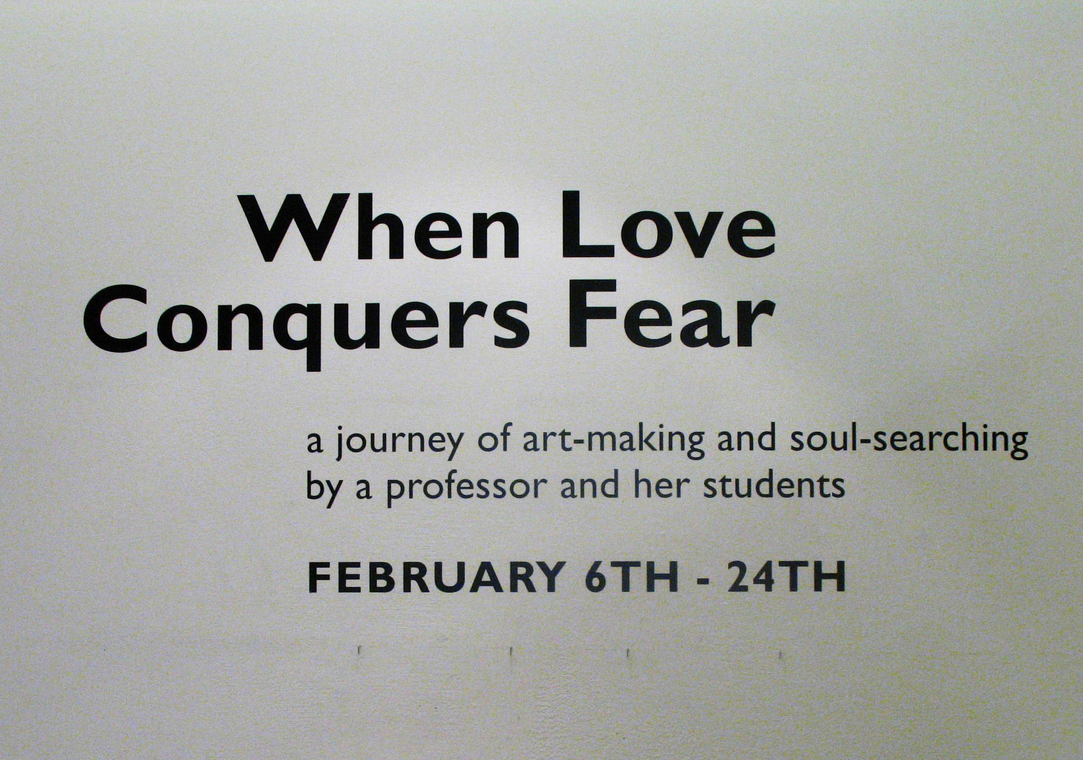 when love conquers fear