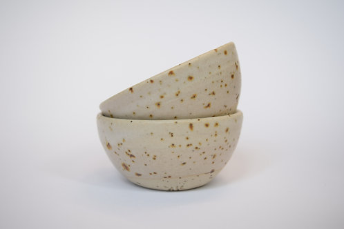 Small Freckled Bowls x 2 - Matte