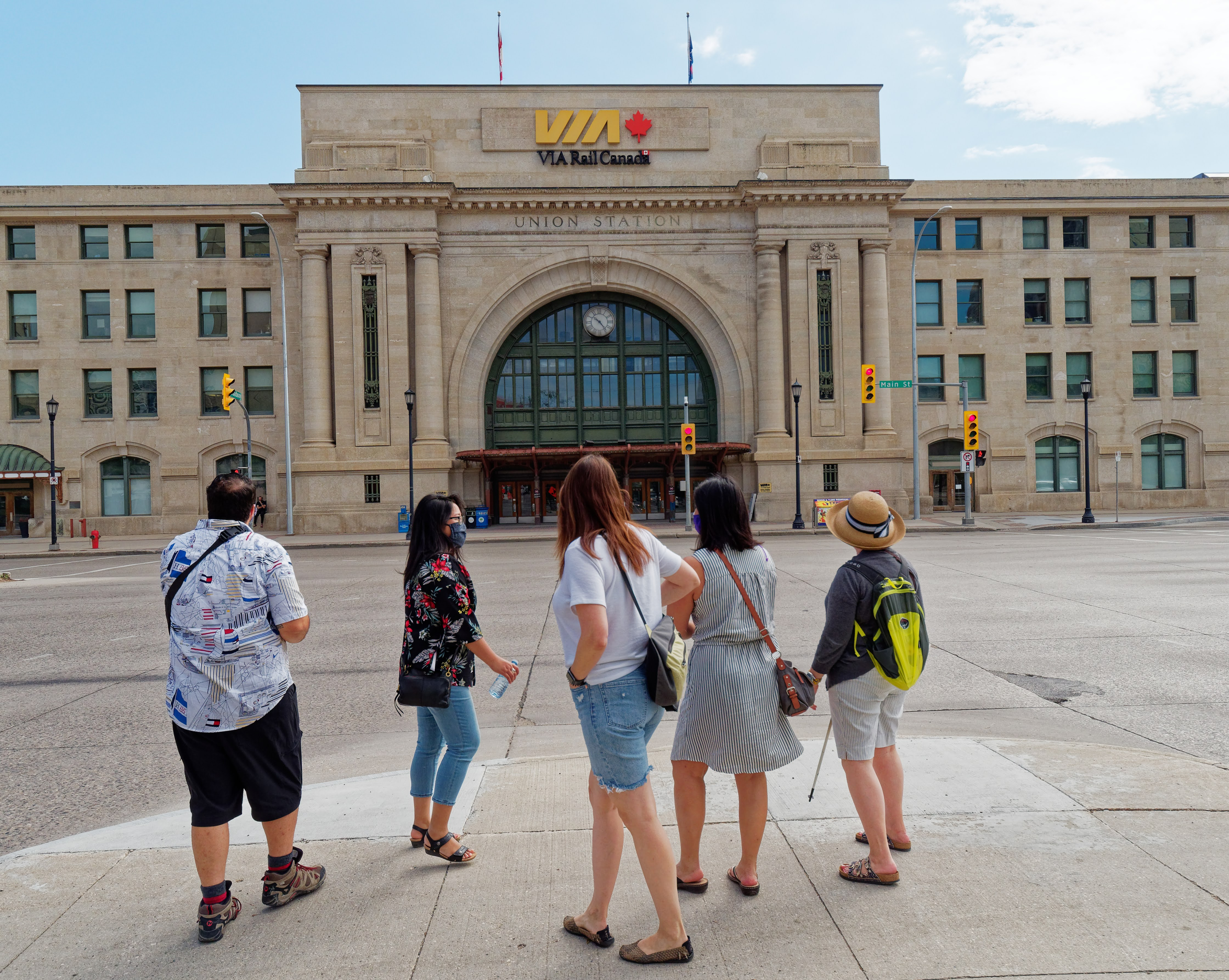 Winnipeg Train Station Free Tour Group