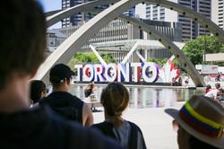 Downtown Tour Toronto City Hall sign