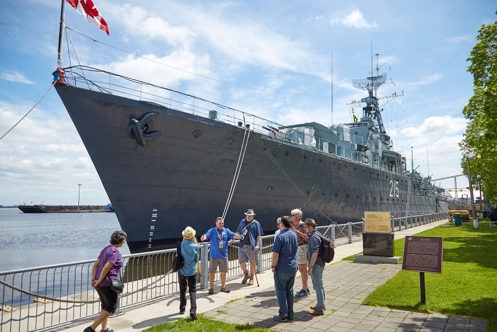 Hamilton Waterfront Walking Tour HMCS Haida
