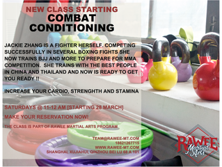 New Class starting - Combat Conditioning
