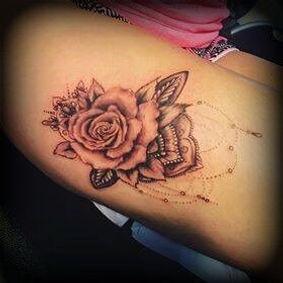 ornamental rose mandala tattoo artist yate bristol