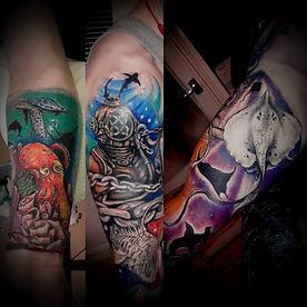 underwater colour sleve tattoo artist yate bristol
