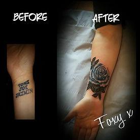 cover up rose tattoo artist yate bristol