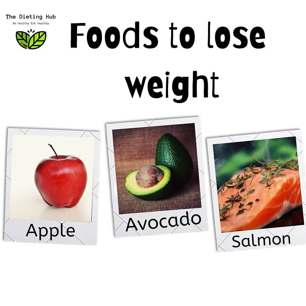 Food that help in weight loss |Apple |Avocoda | salmon