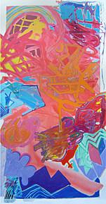 A Pintura e os Devaneios Encarnados - 220x110 cm
