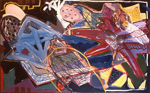Pintura ao entardecer - 80x130 cm
