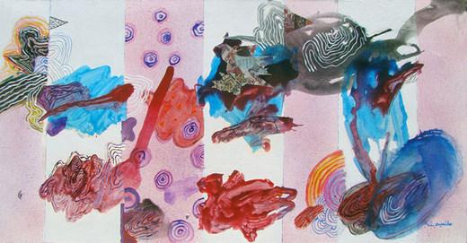 A pintura e sua trajetória horizontal