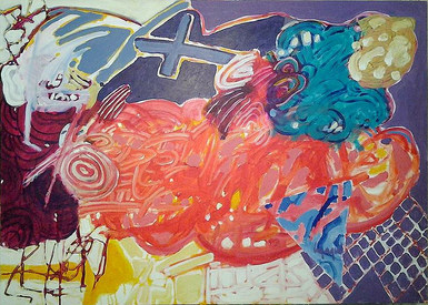 A pintura cheia de assunto - 100x140 cm