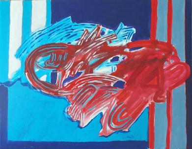 A pintura, o vermelho do azul