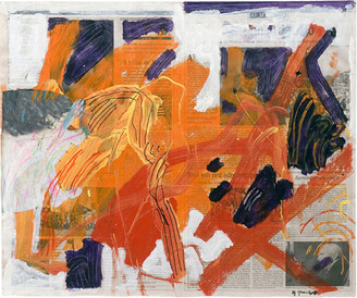 Devaneio sobre jornal I - 54x62,5 cm.jp