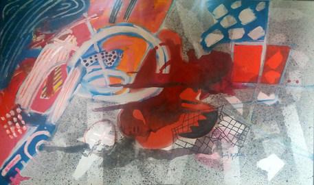 Pintura com vermelho