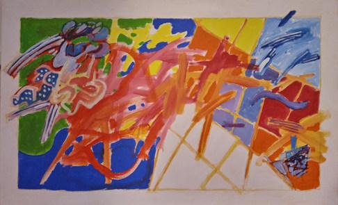 A pintura e o nome a ser escrito
