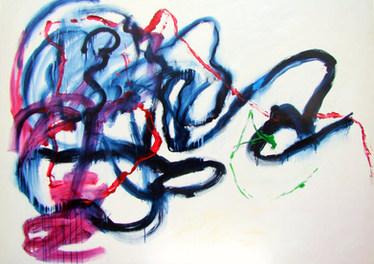 A pintura e o pedido da Nina - 140x184 cm