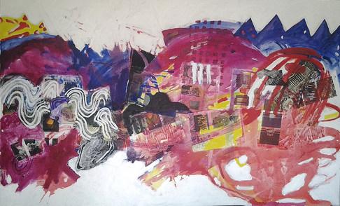 A pintura e a titulação - 110 x 180 cm