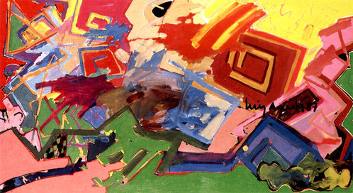 Pintura para gregas,1987 - 110X200 cm