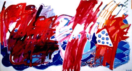 Pintura em Três Partes - 140X260 cm