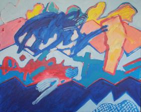 A pintura e a grande pincelada azul