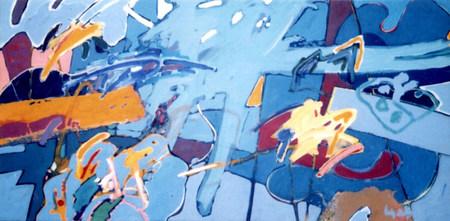A Pintura e o título no verso - 80X160 cm