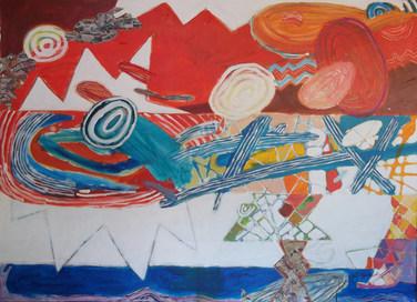 Pintura com seus caminhos - 100x140 cm