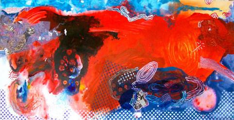 A pintura e as visitas -  90x180 cm