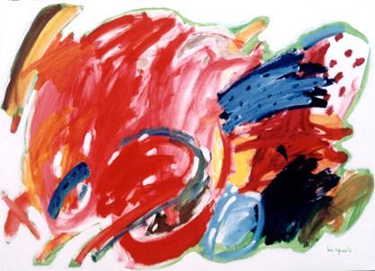 A Pintura e o escudo vermelho -- 80x 130