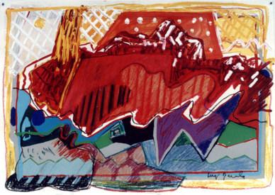 Desenho Rosa - 50X70 cm