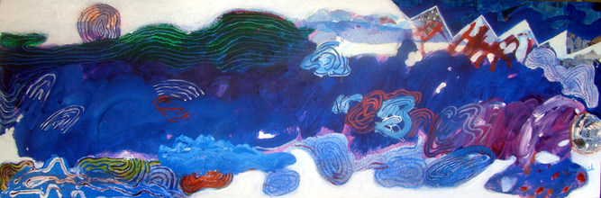 Pintura que lembrou Guignard - 6 x180 cm