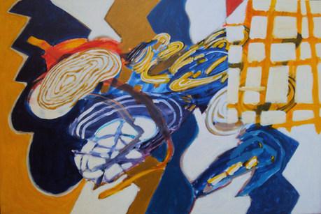 A pintura e o quadriculado amarelo