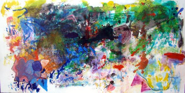 A pintura e o novo atelier - 80x160 cm