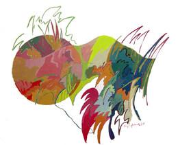 Guache com Círculo - 36X51 cm